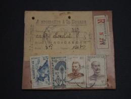 FRANCE / MADAGASCAR - Étiquette De Colis En Recommandée à Soumettre à La Douane ( Café, Chocolat, Riz )- A Voir - L 1256 - Covers & Documents