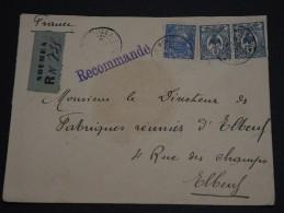NOUVELLE - CALÉDONIE - Enveloppe En Recommandée De Nouméa Pour Elbeuf En 1923 , Affr. Plaisant - A Voir - L 1257 - Nouvelle-Calédonie