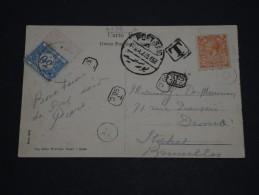BELGIQUE - Taxe Sur Carte Postale En Provenance De Port Saïd Pour Bruxelles, Affranchissement GB - A Voir - L 1262