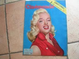 CINEMONDE N° 1082 ( AVRIL 1955 ) DIANA DORS - GERARD PHILIPE - JULIETTE GRECO - GINA LOLLOBRIGIDA - BRIGITTE BARDOT - Cinéma