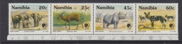 Namibia 1993 Endangered Animals Strip Of 4v ** Mnh (31779) - Namibië (1990- ...)