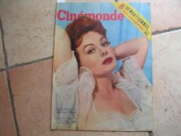 CINEMONDE N° 1113 ( DECEMBRE 1955 ) JEANNE CRAIN - JEAN - MARAIS - G. GUETARY - MARILYN MONROE - LINE RENAUD - Cinéma