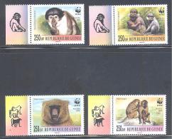 C    Guinee    Michel #    **    Affen  Mit Zierfeld Komplette Satz - Unused Stamps