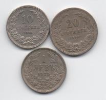 Bulgarie : Lot De 3 Anciennes Pièces 1906-1925 - Bulgaria