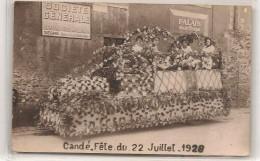 Cande - Fetes Du 22 Juillet 1928 - Societé Générale  A Segré - CPA° - France