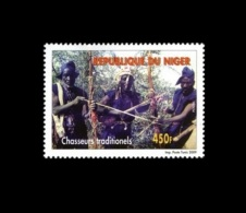 NIGER 2009 YT 1678 Chasseurs Traditionnels Traditionels ERROR Faute D´orthographe  MNH RARE - Niger (1960-...)