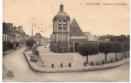 - FRANCE (95) - CPA écrite PONTOISE - La Place Notre-Dame - Phototypie L´Abeille N° 31 - - Pontoise