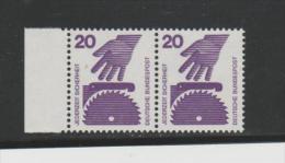 DSPII-BrdMi.Nr.696-96A**/  Paar  20 Pfg. Unfall 1972