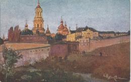 AK 0480  Kiew , Kloster - Hungerhilfe Für Die Ukraine / Künstlerkarte Um 1920 - Ukraine