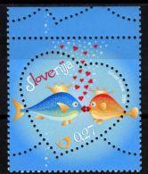 Slovenia, 2009, Mi. 702, Sc. 773, SG 826, St. Valentine, Fishes Kissing, MNH - Slovenia