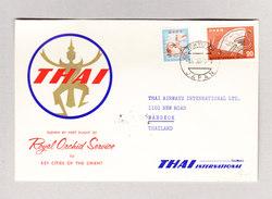 JAPAN  TOKYO AP 4.5.1960 Erstflug THAI ROYAL ORCHID SERVICE Brief Nach Bangkok - Luftpost