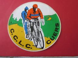 AUTOCOLLANT BLASON  Thème Du SPORT-Vélo Cyclisme C.C.L.C. CUERS VAR 83 Stickers - Autocollants - Aufkleber - Cycling