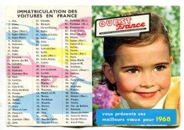 Calendrier Ouest-France 1968 - Petit Format : 1961-70