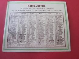 1949 CALENDRIER PETIT FORMAT RADIO-JOFFRE  ST JEAN DU VAR TOULON - Petit Format : 1941-60