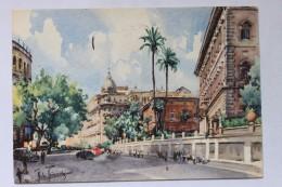 Via Vittorio Veneto, ROMA, ROME, ITALY, 1957, Artist Signed A. RAIMONDI - Roma (Rome)