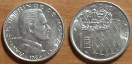 1966 - Monaco - 1 FRANC, Rainier III, KM 140, Gad 150 - Monaco
