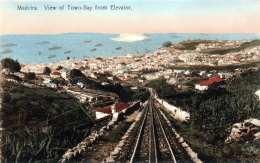 MADEIRA (Portugal) - View Of Town-Bay From Elevator, Karte Um 191?, Karte Hat Mittig Einen Weißen Fleck - Madeira