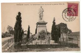 CPA  11  THEZAN        1933  MONUMENT AUX MORTS DE LA GUERRE 1914 1918 - Francia