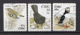 Irlanda 1997... Birds Uccelli Goldrest Blackbird Puffin Regolo Merlo Fratercula Ireland Eire Used