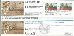 FDC EMISSION COMMUNE FRANCE CANADA 1984 - 1980-1989