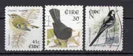Irlanda 1997... Birds Uccelli Goldrest Blackbird Pied Wagtail Ballerina Regolo Merlo Ireland Eire Used