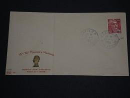 FRANCE  - Enveloppe 1er Jour Type Gandon Datée Du 11/1/54 , Date D ' émission Du Timbre Le 15/1/54 - A Voir - L 1297 - FDC