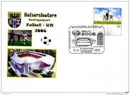 21847 -  Entier Postal Allemand WM2006 Et Oblit Spéciale De  Kaiserslautern