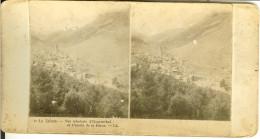"""Photo Stéréoscopique De HOSPENTHAL """" Vue Générale Et Chemin De La Furca """" - Photos Stéréoscopiques"""
