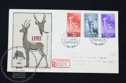 FDC Cover - Spanish Colonies: IFNI  -  Fauna/ Gazelle Topic - Edifil 203/205 - Year 1964 - Ifni