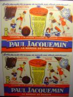 LOT DE 2 BUVARDS ANCIENS - MOUTARDE PAUL JACQUEMIN - 1 NORMAL ET 1 AVEC DEFAUT D'IMPRESSION  Format 20.5cm X 14cm Buvard - Mostard