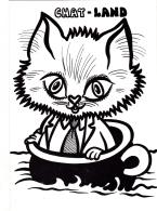 """CPSM  Chat Cat Catze """"Chat-land"""" Pot De Chambre Chamber Pot  Tirage Limité Illustrateur LARDIE - Gatos"""