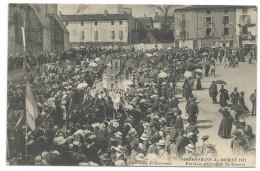LE DORAT (Hte Vienne,87) 2 CPA Ostensions De 1911 - Parroisses D'Azat-le-Ris Et D'Oradour St-Genest - Le Dorat