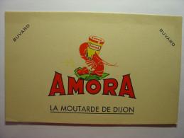 BUVARD ANCIEN - AMORA LA MOUTARDE DE DIJON - 21cm X 13.5cm - Mostard