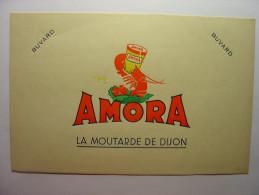 BUVARD ANCIEN - AMORA LA MOUTARDE DE DIJON - 19.7cm X 12.2cm - Mostard