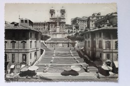 Trinita Dei Monti, Roma, Rome, Italy, 1954, Real Photo Postcard RPPC - Roma (Rome)