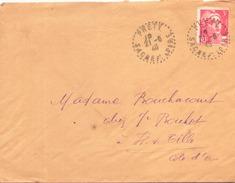 Enveloppe Du 21 Juin 1946 De Prety Pour Is Sur Tille - France