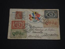 FRANCE  - Vignettespatriotiques Sur Carte FM De Paris Pour Arcachon En 1916 - A Voir - L 1311 - Vignettes Militaires