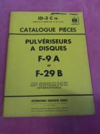 Livret D´entretien PULVERISEURS A DISQUES  MC CORMICK International F-9A F-29B Instruction Montage Pièces Détachées - Livres, BD, Revues