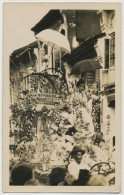 Chingay Procession 1928 Penang Real Photo Edit The Federal Rubber Stamp - Malasia