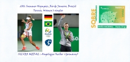 SPAIN, 2016 Summer Olympics, RIO, Tennis, Women´s Singles, SILVER MEDAL : Angelique Kerber (Germany) - Eté 2016: Rio De Janeiro
