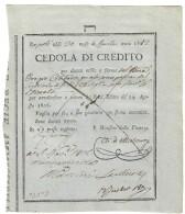 NAPOLI CEDOLE DI CREDITO 1812 1000 DUCATI EMISSIONE 1807 Gioacchino Murat RARA  Lotto.868 - [ 4] Emissioni Provvisorie