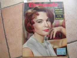 CINEMONDE N° 1179 ( MARS 1957 ) FRANCOISE ARNOUL - LUIS MARIANO - JAMES DEAN - GERARD PHILIPE - Cinéma