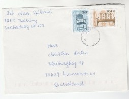 HUNGARY COVER 50f 100f ANTIQUE FURNITURE Stamps - Hungary
