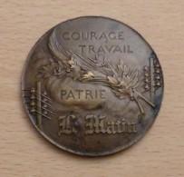 Médaille Bronze Graveur René RIBERON - Journal Le Matin - France