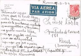 19001. Postal Aerea ROMA 1959. Vista Desde Avion - 1946-.. République