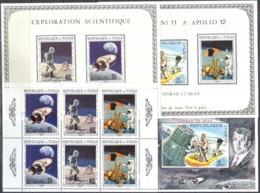 2853 Space Apollo 1970 Chad Sheet MNH ** 12ME - Space