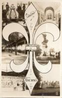 SOUVENIR DE VICHY CARTE PHOTO AVEC UN LYS ( 2 EME CARTES) - Vichy