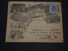 ROUMANIE - Oblitération De Bucarest Sur Enveloppe Illustrée ( Presse ) En 1908 Pour La France - A Voir - L 1341 - Marcofilia