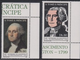 SÃO TOMÉ E PRINCIPE 1982  250 YEARS OF THE BIRTH OF G. WASHINGTON - George Washington