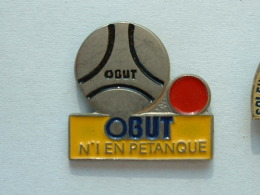 Pin´s PETANQUE - OBUT N°1 - Bowls - Pétanque